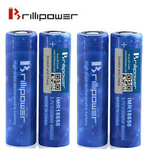4 x Brillipower Blue 50a 3100mAh 18650 Li-Mn Mod Battery - Efest/Sony/LG Killer