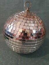 Lightweight Large Silver Glitter Mirror Ball Wedding Party Disco Dance GC