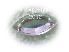Strasssteine Aufnähsteine Spitz Konkarve ca. 7 x 15 mm AB Crystal irisierend