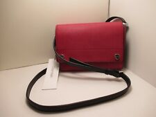 CALVIN KLEIN NEW WITH TAGS RED PURSE LONG ADJUSTABLE BLACK  LONG STRAP
