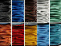 15Colors 5M Leather Round Rope String Cord Necklace Making DIY Craft 1.5/2mm