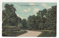 Glen Miller Park Road, RICHMOND IN Vintage Indiana 1911 Postcard