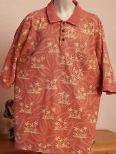 VINTAGE Tommy Bahama HAWAIIAN RELAX mens Pullover Casual S/S shirt PIQUE XL