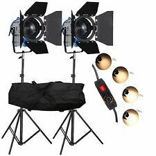 FSKIT500A 2×500W Movie Fresnel Tungsten Spotlight Lighting Studio Video Barndoor