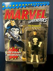 The Punisher Action Figure Marvel Super Heroes 1990 Cap Firing Weapons