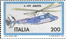 # ITALIA ITALY - 1981 - AGUSTA A109 - Carabinieri Helicopter Plane - Stamp MNH