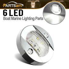 Marine LED Transom Mount Stern Anchor Navigation Light NAV Lamp Chrome White 12V