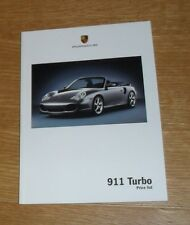 Porsche 911 996 Turbo Coupe & Convertible Price & Options Brochure 2003-2004