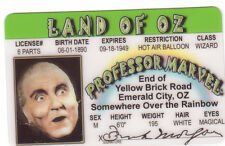 Frank Morgan the Wizard of OZ novelty plastic collectors card Drivers License