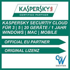 Kaspersky Security Cloud 2021 | 3 PC 5 PC 20 PC Geräte | 1 Jahr | PC Mac Android