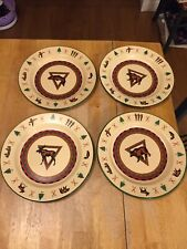 4 Cannon Falls Lodge Enamelware Dinner Plates 10""