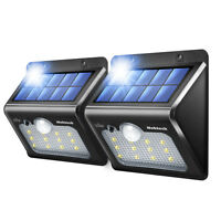 Nekteck Solar Lights 12 LED Outdoor Wall Light with Motion Sensor Detector for G
