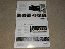 McIntosh C2500 Tube Preamplifier Brochure 2 pages, Specs, Info