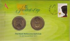 2011 Australia The Presdient's Cup Golf Stamp and Medallion Cover