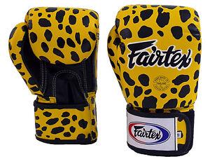 Fairtex Muay Thai Boxing Gloves BGV1 Wild Animal Leopard Trainging Sparring MMA
