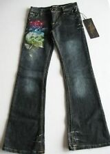 Ed Hardy Girls Skull Rose Mini Jeans (12) NWT