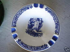 Vintage Ashtray Troost Tobacco Delft's Blue Holland Man and Scale