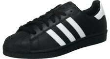 ADIDAS ORIGINALS SUPERSTAR BLACK WITH WHITE LEATHER ADULTS SIZES 7 TO 12 UK
