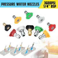 5PCS 3600PSI High Pressure Cleaner Nozzles Washer Mashine Variety Degrees Quick