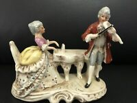 "Antique Porcelain Pair Of German Musicians. Marked. 6,5"" X 5"""
