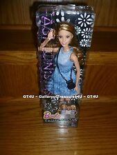 Barbie FASHIONISTAS Theresa #4 Blue Denim Dots Dress Brunette Wavy Curly CLN67