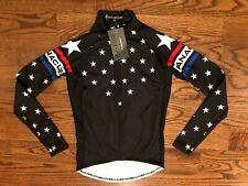 Panache Long Sleeve Full Zip Stars Black Cycling Jersey Women's XS NWT