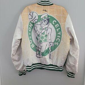 Rare VTG 90s Chalk Line NBA Boston Celtics  Fanimation Big Logo Jacket Mens L