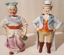 Antique Bisque German Nodders Husband & Wife