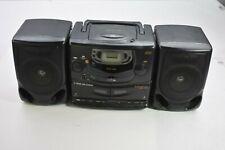 Magnavox AZ 2615 Portable 16W Stereo Boombox AM/FM Radio Dual Cassette Digital