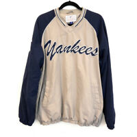 Genuine Merchandise New York Yankees Spellout Pullover Jacket Mens L MLB