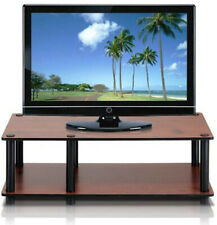 Furinno Wooden TV Stand - Cherry and Black