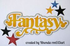 DISNEY FANTASY  title paper piecing Premade Scrapbook Pages album card by Rhonda