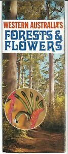 VINTAGE WESTERN AUSTRALIA FORESTS AND FLOWERS TRAVEL GUIDE BROCHURE