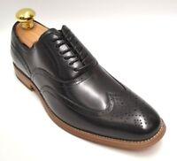 Men's Stacy Adams Dunbar Black Wingtip Oxford Dress Shoe