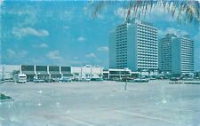 Sheraton Twin Towers Orlando Florida Convention Complex old cars Postcard