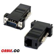 Cablecc 2pcs/lot VGA RGB Extender over LAN CAT5e RJ45 Ethernet Female Adapter