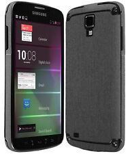 Skinomi® Brushed Steel Phone Skin+Screen Protector for Samsung Galaxy S4 Active
