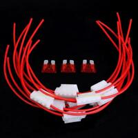 10pcs 5A Middle Blade Fuse Holder Fuseholder w/ Cable for Car Boat Truck ATC/ATO