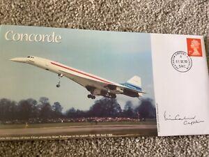 CONCORDE BRITISH AIRWAYS FLIGHT SIGNED COVER BY CAPTAIN BRIAN CALVERT 1/13