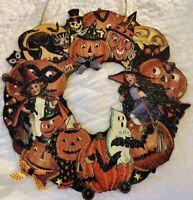 Halloween Retro Vintage Iconic Images Reproduction Wreath NWOT