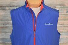 VINEYARD VINES Large Men's Full Zip Mesh Lined Windbreaker Vest Blue