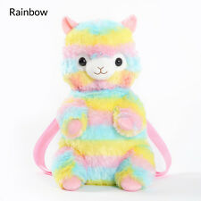 Alpacasso Arpakasso Amuse Backpack Rainbow Striped Llama Alpaca Plush Bag 17''