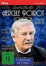 2 DVDs * AGATHA CHRISTIE - HERCULE POIROT COLLECTION - 3 FILME USTINOV # NEU OVP