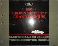 1995 Ford Crown Victoria Mercury Grand Marquis Wiring Shop Manual Original