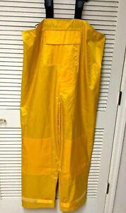 PVC Bib Overalls XXL Waterproof Lined Reinforced Safety Yellow Hi Back Texsport