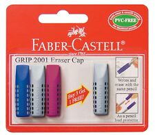 Faber Castell GRIP 2001 Eraser Pencil Rubber Caps 4 Pack New Free Post