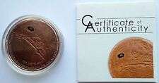 Cook Islands 2009 Mars Meteorite 400th Anniversary $5 Silver Coin, Copper Plated