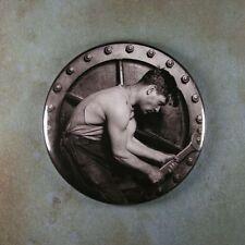 "Vintage Style Photography  Art Fridge Magnet 2 1/4""  Lewis Hine Steamfitter"