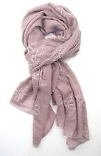 Blush with Pink Embroidered Floral Long Scarf or Shawl  Soft to the Touch ~ New