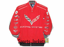 Size 2XL Corvette Red Cotton Embroidered  Jacket JH Design  New XXL
